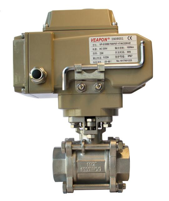 Photo Detail for 2-way Electric Threaded Ball Valve-front.jpg